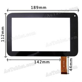 FHF070039-85 Digitizer Glass Touch Screen Panel for 7 Inch Android Tablet PC Replacement