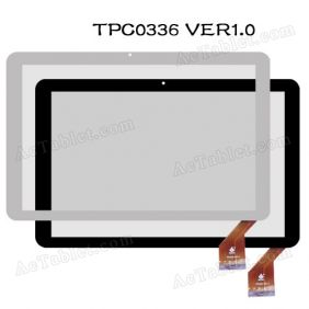 TPC0336 VER1.0 Digitizer Glass Touch Screen Panel for 10.1 Inch Tablet PC Replacement