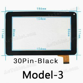 86VS ZHC-0598 Digitizer Glass Touch Screen Panel Replacement for 7 Inch Tablet PC