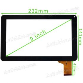 NJG090007AEG0B-V0 Digitizer Glass Touch Screen Panel Replacement for 9 Inch MID Tablet PC