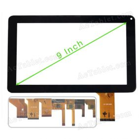 Replacement Touch Screen for TMAX TM9S775 Internet Tablet 9 HD Cortex A9 Dual-Core