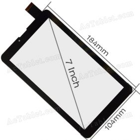 HS1375/1273 V060 JHET Digitizer Touch Screen Replacement for Pixus 7 Inch 3G MID Tablet PC