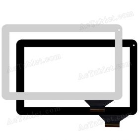HOTATOUCH C159257C8 DRFPC194T-V1.0 Digitizer Touch Screen Replacement for 10.1 Inch Tablet PC