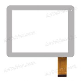 MF-397-080F FPC Digitizer Glass Touch Screen for 8 Inch Tablet PC Replacement
