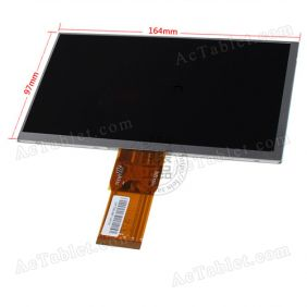 Replacement LCD Screen for Yuandao Vido N70 T11 3G MTK8312 Dual Core Tablet PC 7 Inch