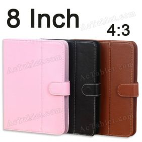 Leather Case Cover for Ployer MOMO8W Z3735 Quad Core  8 Inch Tablet PC