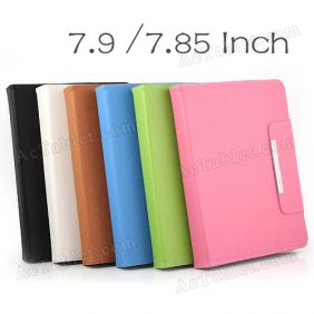 Leather Case Cover  for Ployer MOMO MINI 3GS MTK6577 Dual Core 7.9 Inch Tablet PC