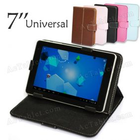 PU Leather Case Cover for Freelander PD200 MT8317 Dual Core MID 7 Inch Tablet PC