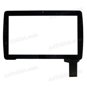 HOTATOUCH C261160D1 DRFPC167T-V1.0 Digitizer Glass Touch Screen Replacement for 10.1 Inch MID Tablet PC
