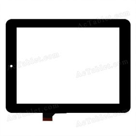 HOTATOUCH C152201A1 DRFPC085T-V1.0 Digitizer Glass Touch Screen Replacement for 8 Inch MID Tablet PC