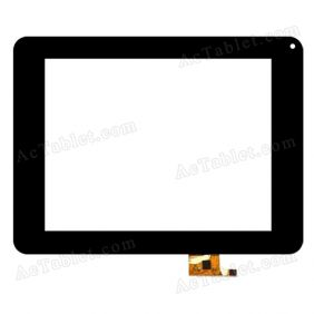 C154207A1-PG DRFPC091T-V3.0 Digitizer Glass Touch Screen Replacement for 8 Inch MID Tablet PC