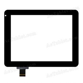 DRFPC043T-V3.0 Digitizer Glass Touch Screen Replacement for 8 Inch MID Tablet PC