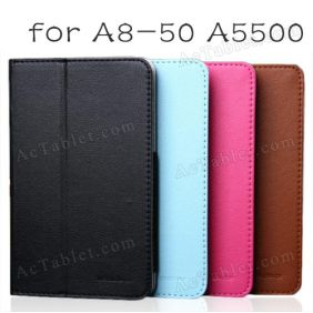 Original Leather Case Cover for Lenovo A8-50 A5500 Tablet PC 8 Inch
