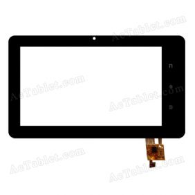 RS7F1609051V1.2 Digitizer Glass Touch Screen Replacement for 7 Inch MID Tablet PC