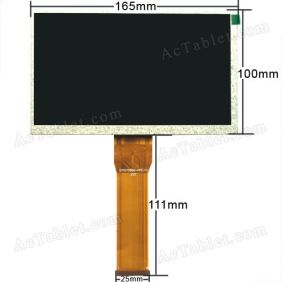Universal EVT070B50-FPC-V1 LCD Display Screen for 7 Inch Android Tablet PC