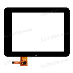 E-C8002-01 FPC Digitizer Glass Touch Screen Replacement for 8 Inch MID Tablet PC