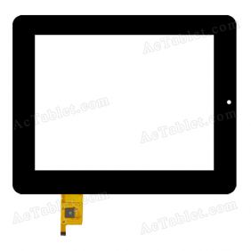080066-03A-V2 Digitizer Glass Touch Screen Replacement for 8 Inch MID Tablet PC