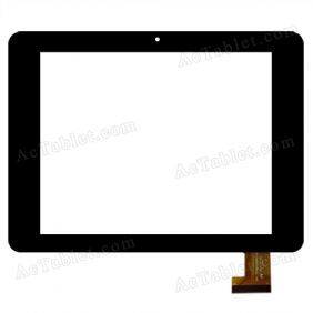 FPC-TP080028(881)-01 Digitizer  Touch Screen Replacement for Clempad XL 8 Inch MID Tablet PC
