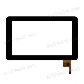 TOPSUN-C0116-A1 Digitizer Glass Touch Screen Panel Replacement for 7 Inch Tablet PC