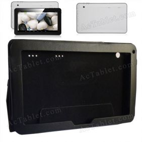 "Leather Case Cover for Fusion5 Xtra v1, Xtra v3, Xtra Compact and Xtra 4CORE 10.1"" Tablet PC"