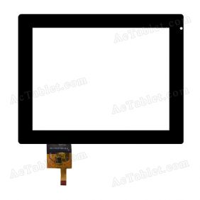 300-L4003A-A00-V1.0 Digitizer Glass Touch Screen Replacement for 8 Inch MID Tablet PC