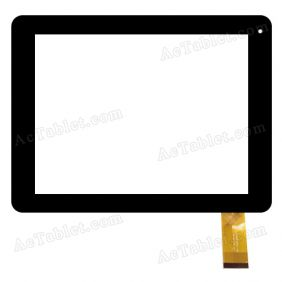 FPC-TP080051(MF397)-00 Digitizer Glass Touch Screen Replacement for 8 Inch MID Tablet PC
