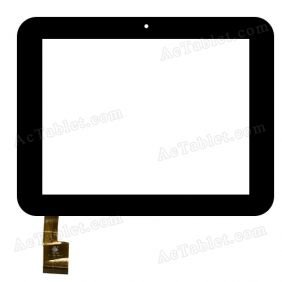 TPC0329 VER1.0 Digitizer Glass Touch Screen Replacement for 8 Inch MID Tablet PC