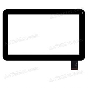 TE-0700-0001 Digitizer Glass Touch Screen Replacement for 7 Inch MID Tablet PC