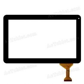 TE-1010-0053 FPC Digitizer Glass Touch Screen Replacement for 10.1 Inch MID Tablet PC