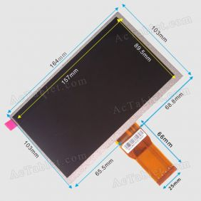 Universal SL007DC18B18 Inner LCD Display Screen for 7 Inch Android Tablet PC