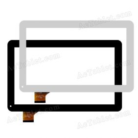 QSD 701-10059-02 Digitizer Glass Touch Screen Replacement for 10.1 Inch MID Tablet PC