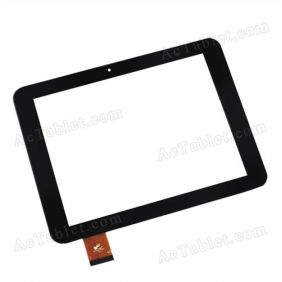 TPC-50194 V2.0 Digitizer Glass Touch Screen Replacement for 8 Inch MID Tablet PC