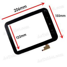 PB80DR8051-A-R1 Digitizer Glass Touch Screen Replacement for 8 Inch MID Tablet PC