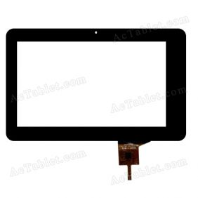 HOTATOUCH C190115A1-GGFPC619DR Digitizer Glass Touch Screen Replacement for 7 Inch MID Tablet PC