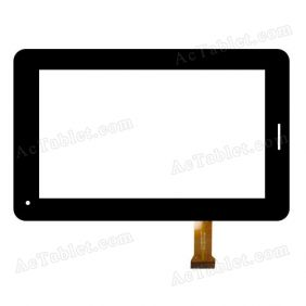 YJ040FPC-V0 Digitizer Glass Touch Screen Replacement for 7 Inch MID Tablet PC