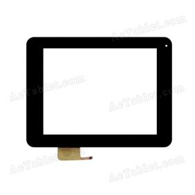 C156209A2-GG DRFPC101T-V1.0 Digitizer Glass Touch Screen Replacement for 8 Inch MID Tablet PC