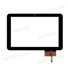 QSD E-C100013-02 LLT Digitizer Glass Touch Screen Replacement for 10.1 Inch MID Tablet PC