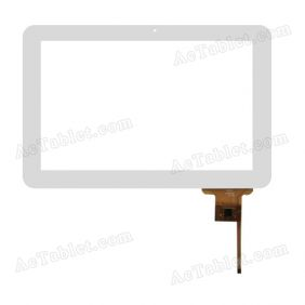 QSD E-C10003-02 Digitizer Glass Touch Screen Replacement for 10.1 Inch MID Tablet PC