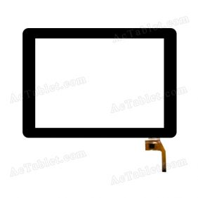 F0321 X Digitizer Glass Touch Screen Replacement for 9.7 Inch MID Tablet PC