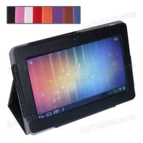 Leather Case Cover for Q88X AllWinner A33 Quad Core 7 Inch MID Tablet PC