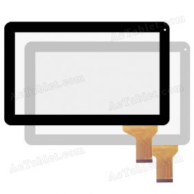 Digitizer Touch Screen for iRulu X1043 Allwinner A31s Quad-Core 10.1 Inch Tablet PC Replacement