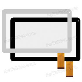 "Digitizer Touch Screen Replacement for iRulu X1s X1049 Quad Core 10.1"" Inch Tablet PC"