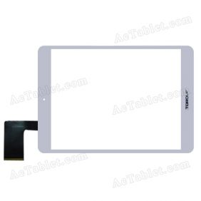 Digitizer Touch Screen Replacement for Torque Droidz Mini Q 7.85-inch Quad-core Tablet HS1279 V290