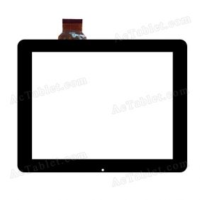 F0124 KDX WF C0131 Digitizer Glass Touch Screen Replacement for 9.7 Inch MID Tablet PC