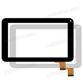 Kingvina-126 FHX Digitizer Glass Touch Screen Panel Replacement for 7 Inch Tablet PC