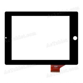 HY TPC-50168-V1.0 Digitizer Glass Touch Screen Replacement for 8 Inch MID Tablet PC