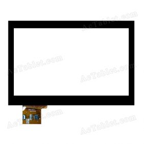ZCC-2024 Digitizer Glass Touch Screen Replacement for 7 Inch MID Tablet PC