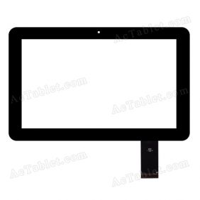 QSD E-C10002-02 Digitizer Glass Touch Screen Replacement for 10.1 Inch MID Tablet PC