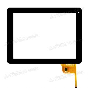 YTG-P97001-F8 V1.2 Digitizer Glass Touch Screen Replacement for 9.7 Inch MID Tablet PC