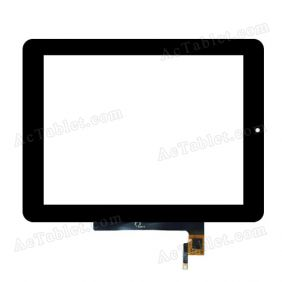 0768-V01-0701 Digitizer Glass Touch Screen Replacement for 8 Inch MID Tablet PC